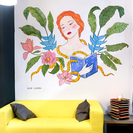 BELÉN SEGARRA, ILUSTRACIÓN MURAL REREAD REUSE RECICLE